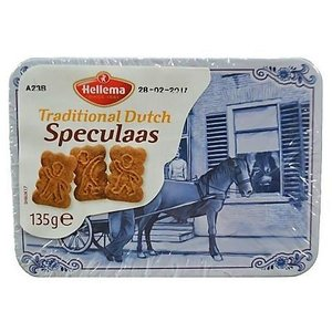 Typisch Hollands Speculaas in a tin Delft blue