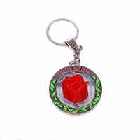 Typisch Hollands Keychain rotating tulip red Holland