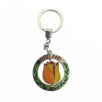 Typisch Hollands key ring rotating tulip orange Holland