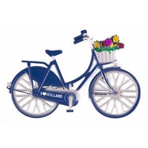 Typisch Hollands Magnet metal bicycle blue Holland