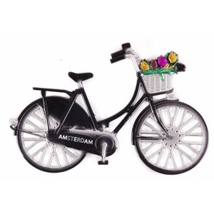 Typisch Hollands Magnet Metall Fahrrad schwarz Amsterdam