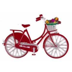 Typisch Hollands Magneet metaal fiets rood Holland