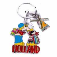 Typisch Hollands Keyring kiss pair with mill charm Holland