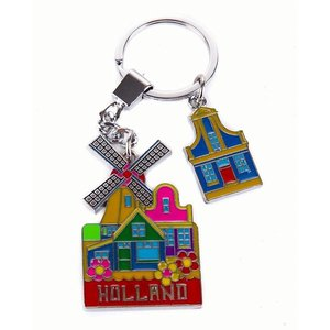 Typisch Hollands Keychain mill with Holland houses
