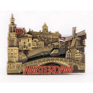 Typisch Hollands Magnet - Amstedam - Bronze