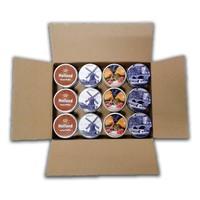 Stroopwafels (Typisch Hollands) Stroopwafels in Blik - Bulkverpakking - mix 12 blikken