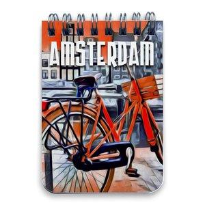 Typisch Hollands Notebook A7 Amsterdam Fahrrad