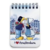 Typisch Hollands Notitieboekje A7 Amsterdam Kuspaar