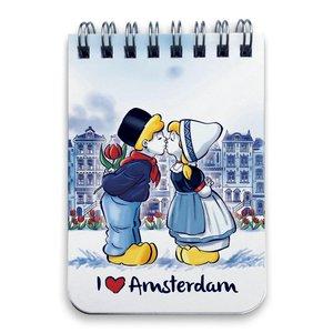 Typisch Hollands Notebook A7 Amsterdam Kiss Couple