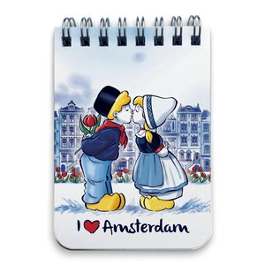 Typisch Hollands Notebook A7 Amsterdam Kuss Paar