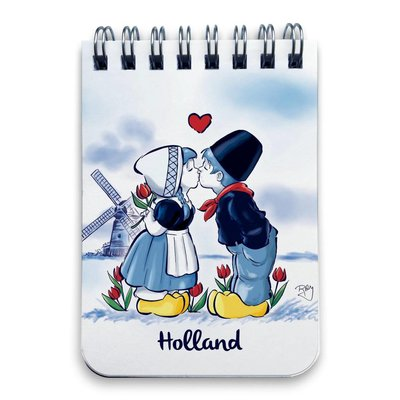 Typisch Hollands Notitieboekje - Ringband A7 Kuspaar Holland