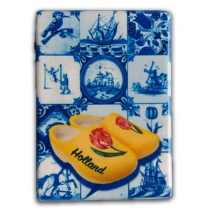 Typisch Hollands Magnet rectangle Delft - Clogs