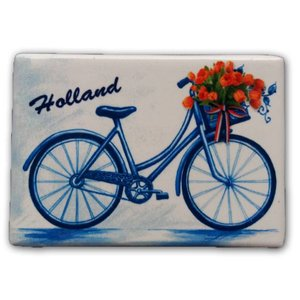 Typisch Hollands Magnet rectangle - Holland - Bicycle