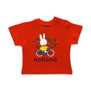 Nijntje (c) Baby T-Shirt Miffy auf Fahrrad - Holland