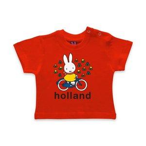 Nijntje (c) Baby T-Shirt Nijntje op fiets - Holland
