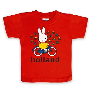 Nijntje (c) T-Shirt Miffy auf dem Fahrrad Holland