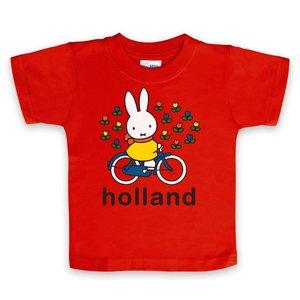 Nijntje (c) T-Shirt Nijntje op fiets Holland