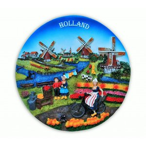 Typisch Hollands Holland- Wandbord - Full Color