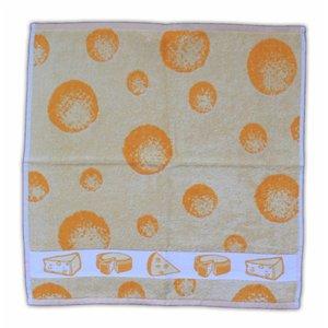 Typisch Hollands Küchentuch Käse-Motiv - Gelb