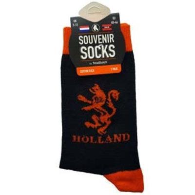 Typisch Hollands Men's socks Orange lion black