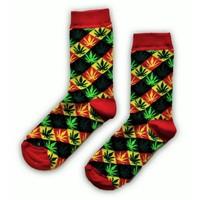 Typisch Hollands Ladies socks Weedblad squares