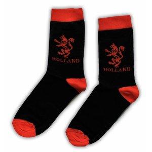 Holland sokken Herensokken Oranje leeuw zwart