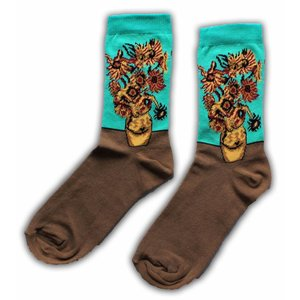 Typisch Hollands Damen Socken Vincent van Gogh Sonnenblumen