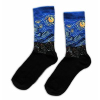 Typisch Hollands Women's socks Vincent van Gogh starry sky