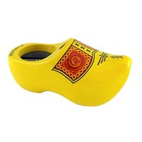 Typisch Hollands Pencil sharpener wooden shoe - 8.5 cm - Yellow