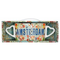 Typisch Hollands Mini Mokkenset Amsterdam Mosaic -