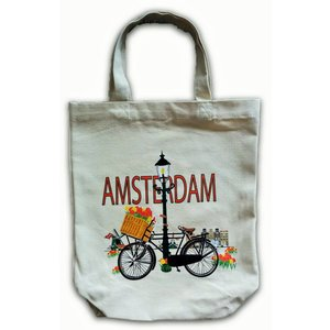 Typisch Hollands Eco Leinenbeutel - Amsterdam - Fahrrad