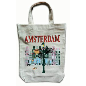 Typisch Hollands Eco linnen Draagtas - Amsterdam - Fiets