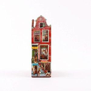 Typisch Hollands Magneet 2D MDF Red Light huis Amsterdam