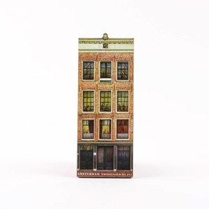Typisch Hollands Magneet 2D MDF Anne Frank huis Amsterdam