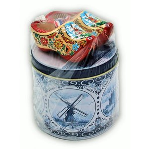 www.typisch-hollands-geschenkpakket.nl Stroopwafels gift set - with Wooden nuggets - Mills
