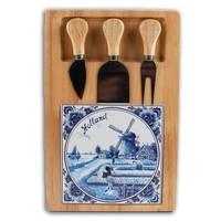 Typisch Hollands Käseplatte drei Klingen - Delft