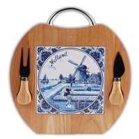 Typisch Hollands Cheese board - Apple shape - Knife