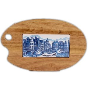 Typisch Hollands Cheese board Palette shaped (Amsterdam)