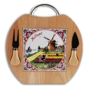Typisch Hollands Cheese board - Apple shape - Knife