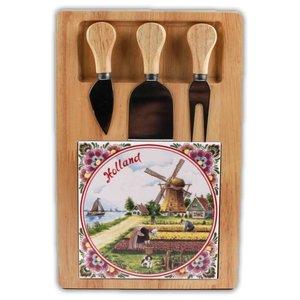 Typisch Hollands Käseplatte drei Klingen - Farbe