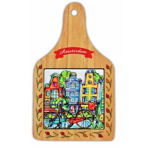 Typisch Hollands Cheese board Colorfull Amsterdam - Bicycle