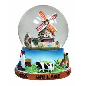 Typisch Hollands Schneekugel Holländischer Ruhm mittlerer Größe