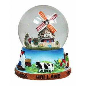 Typisch Hollands Schneekugel Holländischer Ruhm - Groß 8 cm