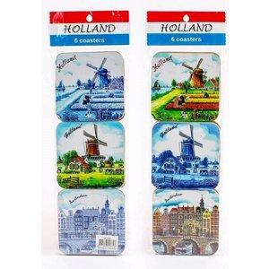 Typisch Hollands Onderzetters mix color/delfts Holland