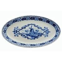 Typisch Hollands Delfts blauwe Schaal Molen ovaal