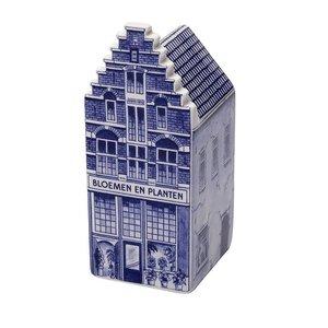 Heinen Delftware Bloemenshop  groot - Delfts blauw