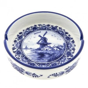Heinen Delftware Delft blue Ashtray - Mill landscape
