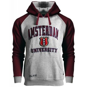 FOX Originals Hoodie - Amsterdam - University - Bordeaux-Gray