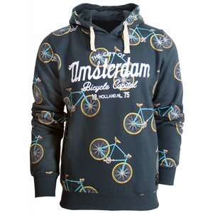 Holland fashion Hoodie - Amsterdam - All-Over print Fietsen (ook kindermaten)