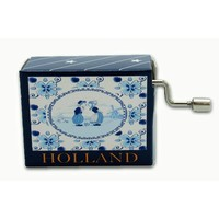 Typisch Hollands Muziekdoosje - Delfts blauw